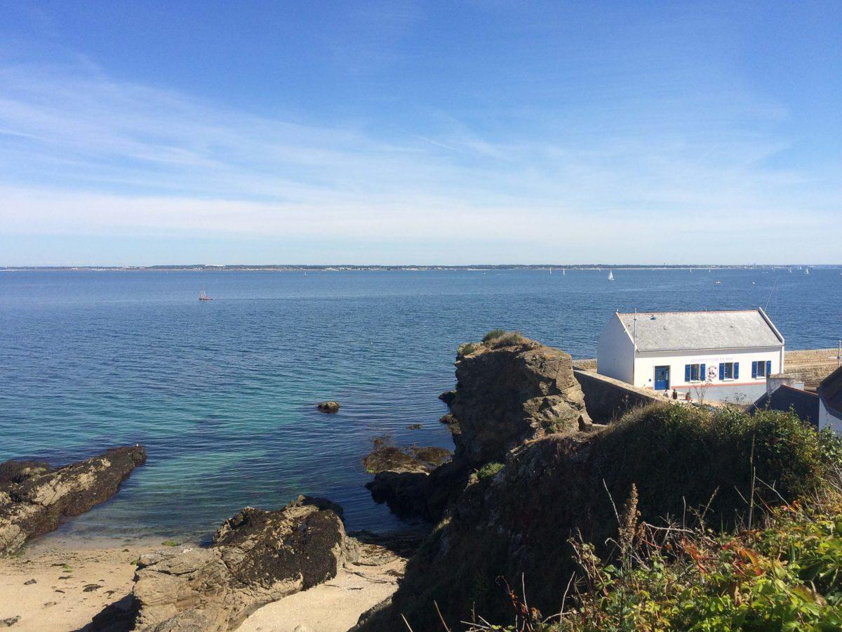 Huisje van de reddingmaatschappij op Île de Groix