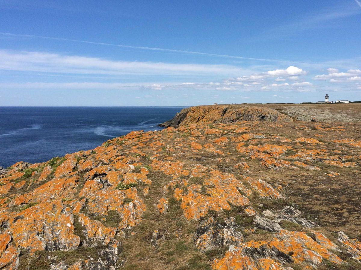 Uitzicht over zee van Île de Groix