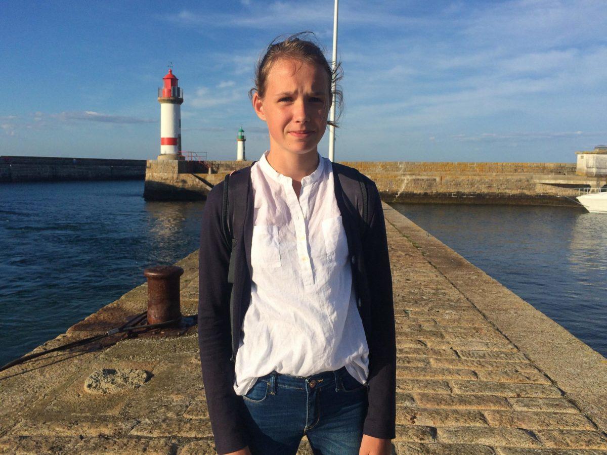 Annick in de haven van Île de Groix