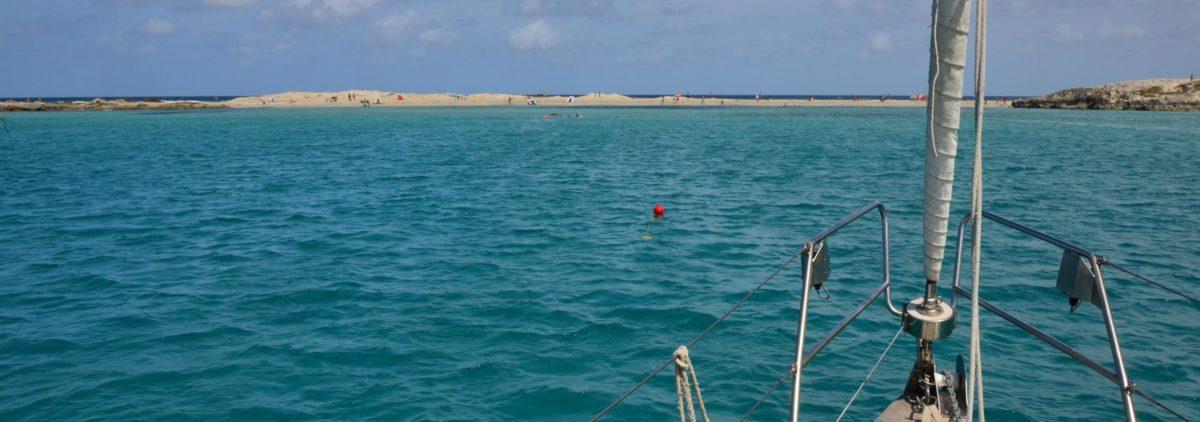 Ankeren bij Formentera
