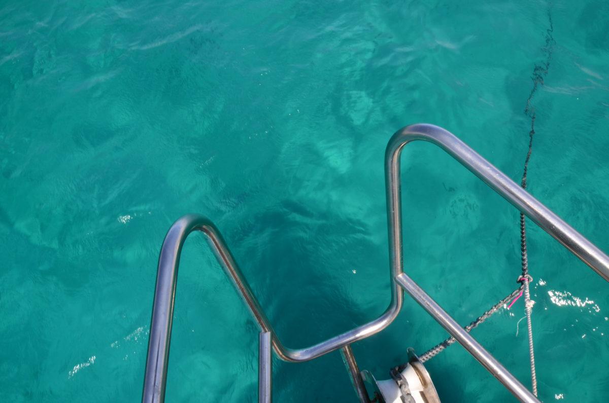 Formentera ankeren in een zwembad