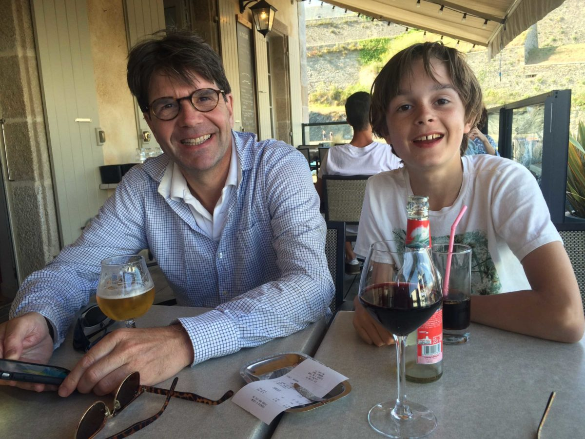 Drankje bij La Touline, Belle Île en Mer