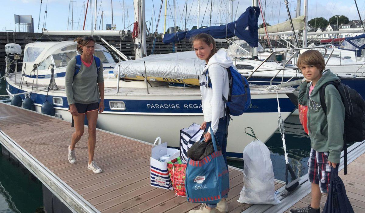 Afscheid van de boot in La Trinité-sur-Mer